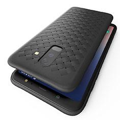 Silikon Hülle Handyhülle Gummi Schutzhülle Köper B02 für Samsung Galaxy A9 Star Lite Schwarz
