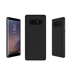 Silikon Hülle Handyhülle Gummi Schutzhülle Köper B02 für Samsung Galaxy Note 8 Schwarz