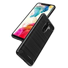 Silikon Hülle Handyhülle Gummi Schutzhülle Köper B02 für Xiaomi Pocophone F1 Schwarz