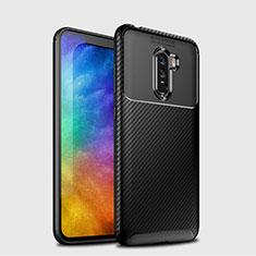 Silikon Hülle Handyhülle Gummi Schutzhülle Köper B03 für Xiaomi Pocophone F1 Schwarz