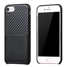 Silikon Hülle Handyhülle Gummi Schutzhülle Köper B05 für Apple iPhone 7 Schwarz