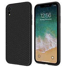 Silikon Hülle Handyhülle Gummi Schutzhülle Köper für Apple iPhone XR Schwarz