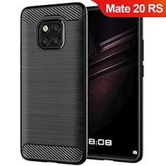 Silikon Hülle Handyhülle Gummi Schutzhülle Köper für Huawei Mate 20 RS Schwarz
