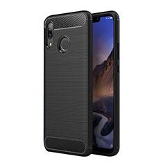 Silikon Hülle Handyhülle Gummi Schutzhülle Köper für Huawei P Smart+ Plus Schwarz
