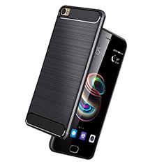 Silikon Hülle Handyhülle Gummi Schutzhülle Köper für Huawei P8 Max Schwarz