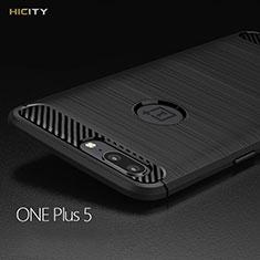 Silikon Hülle Handyhülle Gummi Schutzhülle Köper für OnePlus 5 Schwarz