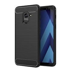 Silikon Hülle Handyhülle Gummi Schutzhülle Köper für Samsung Galaxy A5 (2018) A530F Schwarz