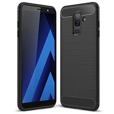 Silikon Hülle Handyhülle Gummi Schutzhülle Köper für Samsung Galaxy A6 Plus (2018) Schwarz