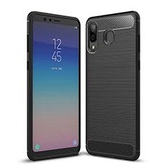 Silikon Hülle Handyhülle Gummi Schutzhülle Köper für Samsung Galaxy A9 Star SM-G8850 Schwarz