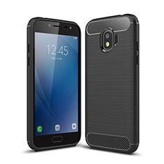 Silikon Hülle Handyhülle Gummi Schutzhülle Köper für Samsung Galaxy J2 Pro (2018) J250F Schwarz