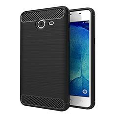 Silikon Hülle Handyhülle Gummi Schutzhülle Köper für Samsung Galaxy J5 (2017) Version Americaine Schwarz