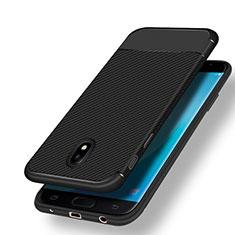 Silikon Hülle Handyhülle Gummi Schutzhülle Köper für Samsung Galaxy J7 (2017) SM-J730F Schwarz