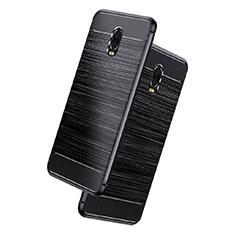 Silikon Hülle Handyhülle Gummi Schutzhülle Köper für Samsung Galaxy J7 Plus Schwarz