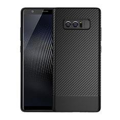 Silikon Hülle Handyhülle Gummi Schutzhülle Köper für Samsung Galaxy Note 8 Duos N950F Schwarz