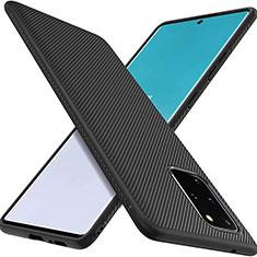 Silikon Hülle Handyhülle Gummi Schutzhülle Köper für Samsung Galaxy S20 Plus 5G Schwarz