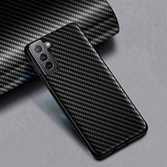 Silikon Hülle Handyhülle Gummi Schutzhülle Köper für Samsung Galaxy S21 5G Schwarz