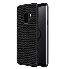 Silikon Hülle Handyhülle Gummi Schutzhülle Köper für Samsung Galaxy S9 Schwarz