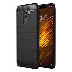 Silikon Hülle Handyhülle Gummi Schutzhülle Köper für Xiaomi Pocophone F1 Schwarz
