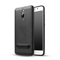 Silikon Hülle Handyhülle Gummi Schutzhülle Köper mit Ständer für Huawei Mate 9 Pro Schwarz