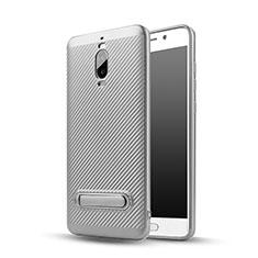Silikon Hülle Handyhülle Gummi Schutzhülle Köper mit Ständer für Huawei Mate 9 Pro Silber