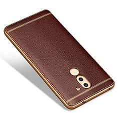 Silikon Hülle Handyhülle Gummi Schutzhülle Leder für Huawei Honor 6X Braun