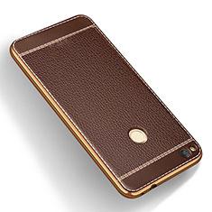 Silikon Hülle Handyhülle Gummi Schutzhülle Leder für Huawei Honor 8 Lite Braun