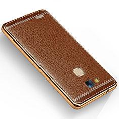 Silikon Hülle Handyhülle Gummi Schutzhülle Leder für Huawei Mate 7 Braun