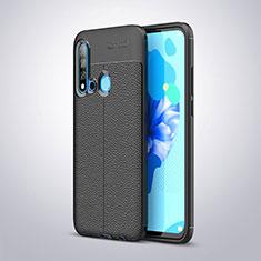 Silikon Hülle Handyhülle Gummi Schutzhülle Leder für Huawei Nova 5i Schwarz