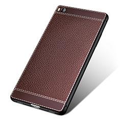 Silikon Hülle Handyhülle Gummi Schutzhülle Leder für Huawei P8 Braun