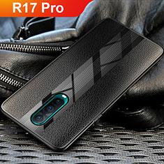 Silikon Hülle Handyhülle Gummi Schutzhülle Leder für Oppo R17 Pro Schwarz