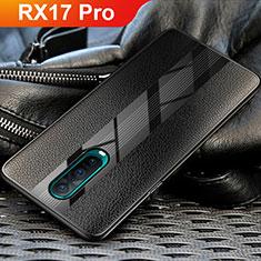 Silikon Hülle Handyhülle Gummi Schutzhülle Leder für Oppo RX17 Pro Schwarz