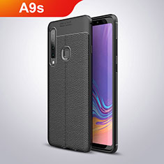 Silikon Hülle Handyhülle Gummi Schutzhülle Leder für Samsung Galaxy A9s Schwarz