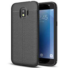 Silikon Hülle Handyhülle Gummi Schutzhülle Leder für Samsung Galaxy J2 Pro (2018) J250F Schwarz