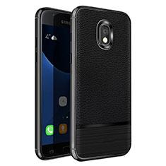 Silikon Hülle Handyhülle Gummi Schutzhülle Leder für Samsung Galaxy J5 Pro (2017) J530Y Schwarz