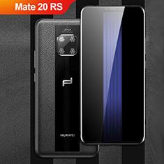 Silikon Hülle Handyhülle Gummi Schutzhülle Leder Q01 für Huawei Mate 20 RS Schwarz