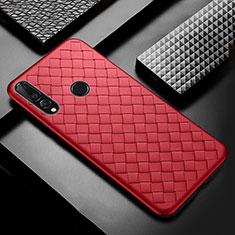 Silikon Hülle Handyhülle Gummi Schutzhülle Leder Tasche A01 für Huawei Enjoy 9s Rot