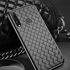 Silikon Hülle Handyhülle Gummi Schutzhülle Leder Tasche A01 für Huawei Enjoy 9s Schwarz