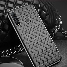 Silikon Hülle Handyhülle Gummi Schutzhülle Leder Tasche A01 für Huawei Honor 20i Schwarz