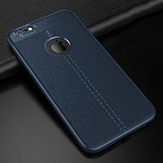 Silikon Hülle Handyhülle Gummi Schutzhülle Leder Tasche D01 für Apple iPhone 6S Blau