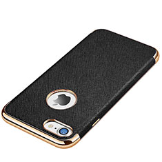 Silikon Hülle Handyhülle Gummi Schutzhülle Leder Tasche für Apple iPhone 7 Schwarz