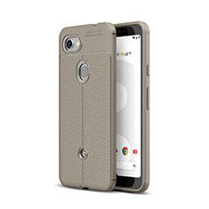 Silikon Hülle Handyhülle Gummi Schutzhülle Leder Tasche für Google Pixel 3a Grau