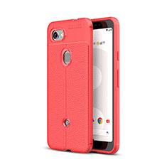 Silikon Hülle Handyhülle Gummi Schutzhülle Leder Tasche für Google Pixel 3a Rot