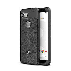 Silikon Hülle Handyhülle Gummi Schutzhülle Leder Tasche für Google Pixel 3a Schwarz