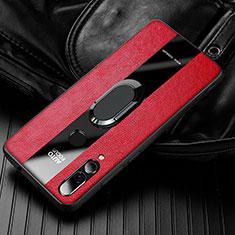 Silikon Hülle Handyhülle Gummi Schutzhülle Leder Tasche für Huawei Enjoy 9s Rot