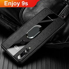 Silikon Hülle Handyhülle Gummi Schutzhülle Leder Tasche für Huawei Enjoy 9s Schwarz