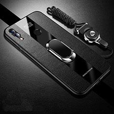 Silikon Hülle Handyhülle Gummi Schutzhülle Leder Tasche für Huawei Honor 10 Lite Schwarz