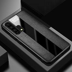 Silikon Hülle Handyhülle Gummi Schutzhülle Leder Tasche für Huawei Honor 20 Pro Schwarz