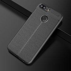 Silikon Hülle Handyhülle Gummi Schutzhülle Leder Tasche für Huawei Honor 9 Lite Schwarz