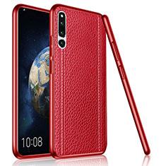 Silikon Hülle Handyhülle Gummi Schutzhülle Leder Tasche für Huawei Honor Magic 2 Rot
