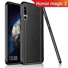 Silikon Hülle Handyhülle Gummi Schutzhülle Leder Tasche für Huawei Honor Magic 2 Schwarz